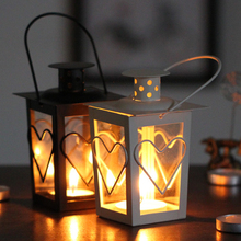 Halloween festivel decoration& gift knittee candle holder glass pedestal wedding candle holder