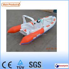 CE approved fiberglass hull rib boat520
