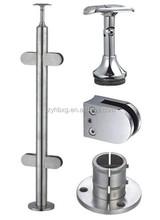 En acier inoxydable escalier main courante balustrade / escalier post
