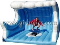 funny inflatable mechanical surfboard, rodeo bull surf machines A6063