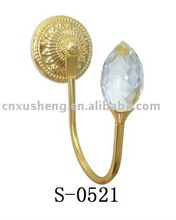 (S-0521)colorful crystal curtain cloth hook cloth hanger