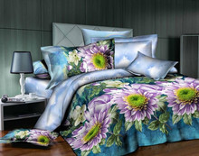 New brand name queen size colorful printed hand stitch bed sheet