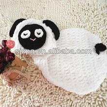 crochet sombrero del bebé con cubierta del pañal prop de la fotografía los niños traje de conjunto