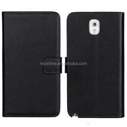 Genuine leather stand case for Samsung Galaxy Note 3 N9000 Protective case