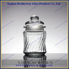 Stylish 280ml wedding favors honey jars with ripple