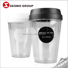 disposable plastic cups for cold drinks top grade double wall insulated plastic cups