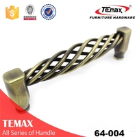 New Decorative furniture leather with chrome zamak handle