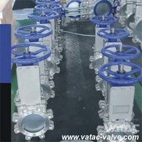 Soft Seated or Metal Seated Cast Iron/Ductile Iron GG25/GGG40/GGG50 WCB/CF8/CF8M/SS304/SS316 Wafer Knife Gate Valve Manufacturer