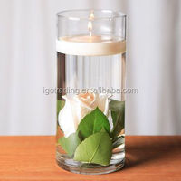 Clear cylinder glass canlder holder,Clear glass cylinder, Tealight candle holder