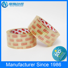 Super Clear Tape With Custom Printed Logo On Tube, Crystal Printed Tape