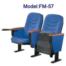 Plastic folding football stadium chair with tablet