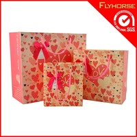 Fashion paper bag with different handle types