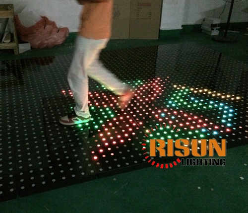 Portable Lighted Dance Floor : Portable led interactive dance floor for sales buy