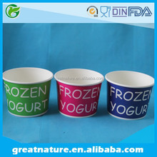 Frozen yogurt disposable cups Frozen yogurt paper cups