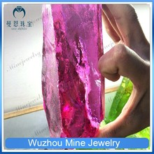 AAA rose red color rough cubic zircon material