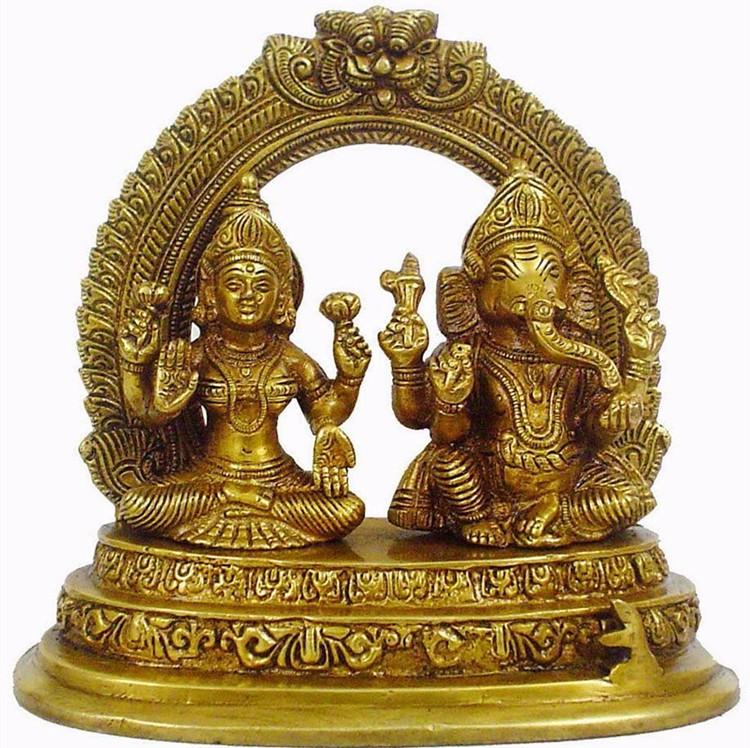Custom indian handicrafts laxmi ganesh idol statue