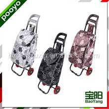 european style shopping carts leopard print trolley bag