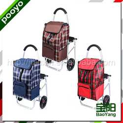 steel luggage cart eco silk shopping bags