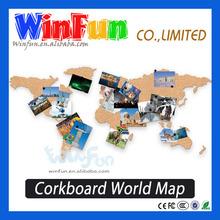 Novel Corkboard Scratch map Message Board Travel World Map Gift For Travel Pal
