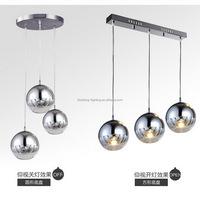 replica TOM DIXON loft decoration BK2010-1L 2/3 bright chromed glass ball pendant lights/ hanging light
