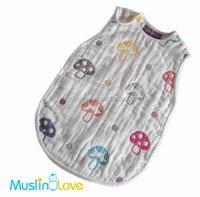 100% Cotton 6-Ply Muslin Sleeping Bag