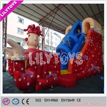 Red clown inflatable slide, new design inflatable cartoon slide for adults