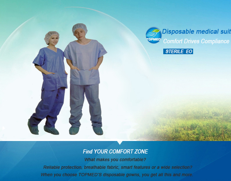 Medical Disposable Nonwoven Hospital Patient Gown