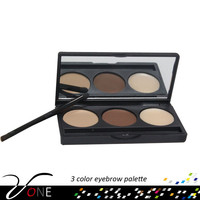 3 Color Perfect Brow Makeup Eye Brow Eyebrow Defining Powder