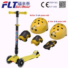 Child age push scooter with no welding T-bar for safety