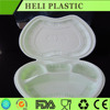 China made divided plastic pp food lunch container plastic rectangular containers 650ml