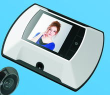 2.4 inch electronic video camera doorbell with push button switch