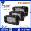 Y&T20W 4.6'' Auto Amber/White LED Light Bar Fog Offroad Flood Spot Lamp Vehicle Car