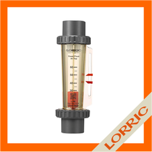 liquid rotameter flow meter with plastic material