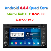 2015 Newest S160 Android 4.4.4 Car DVD player for Sear Leon 2013 with radio Wifi GPS navi Quad Core HD 1024*600 Screen