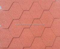 Hexagonal Type Mosaic Bitumen Roof Shingles