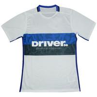 Lastest soccer jersey 100% polyester, 150 gsm fabric football shirt maker, club team football kits