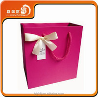 High Quality Decorative Handmade Paper Gift Bag With Ribbon Handle