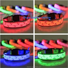 Pet Safety Dog Collar LED Light-up Flashing Glow in Dark Lighted Dog Sailor Collars