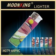 cheapest refillable electronic cigarette lighter with pvc gas electronic lighter pvc 64 refillable lighter