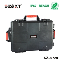 ABS Waterproof plastic carrying tool case with wheels