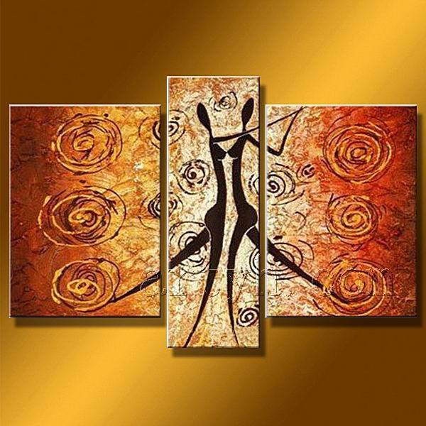 Moderna pittura romantica in pannello di gruppo