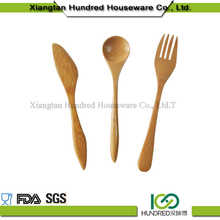 China wholesale family and home spoon cooking set wood tray and snack bowl