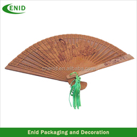 Chinese Souvenir Wood Handheld Fan On Sale