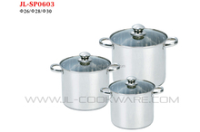 2015 hot sale 6pcsSTAINLESS STEEL COOKWARE SET for restaurant