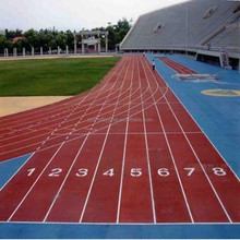 Non-dust,SGS Certified,Anti-slip 100% PP Rubber Track and Field Events used Flooring