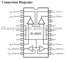 EL6273CU 3-Channel Laser Diode Driver w/Oscillator & APC Amplifier