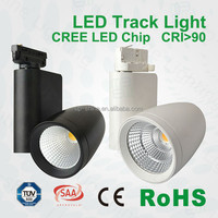 high quality 30w with black or white finish and ceiling 2 lines 3 lines 4 lines base led track lighting techos de aluminio