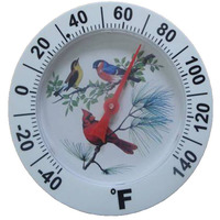 plastic indoor/outdoor garden bimetal dial thermometer