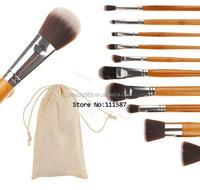 Bamboo Handle Makeup Brush Set Tools 10 pcs makeup brush SV004426
