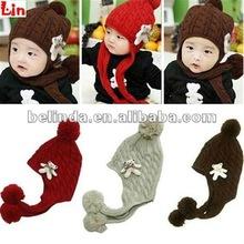 coffee knitted children winter hats